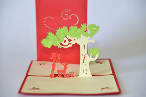 Handmade 3D Pop Up Love Valentine/'s Day Propose Marriage Romantic Tree Card