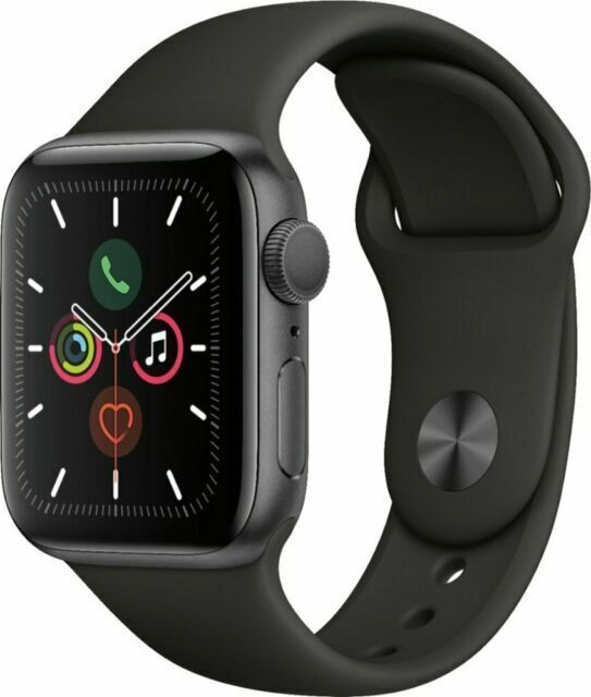 Apple Watch Series 5 44mm Space Gray Case Black Band Mwvf2ll A For Sale Online Ebay