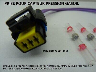 fiche faisceau du Capteur de pression carburant 1920gw HDI Connectique Prise
