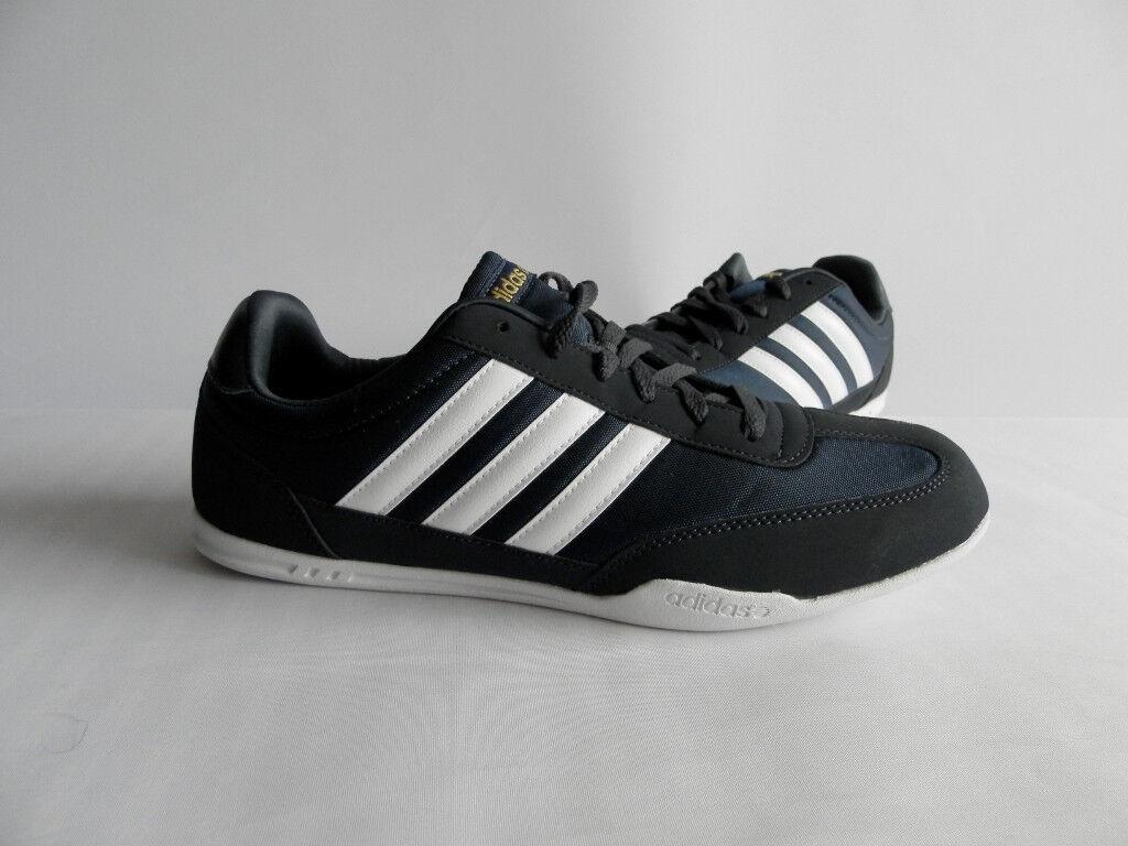 Adidas Caltrack Herren Turnschuhe Schuhe Ortholite Sport Turnschuhe Neu Blau Gr.44,5