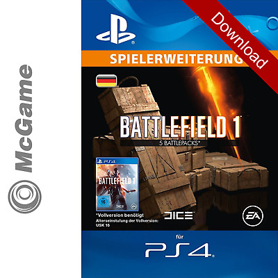 Battlefield 1 | 5 Battlepacks | PS4 Code | Playstation Network (PSN) | Neu