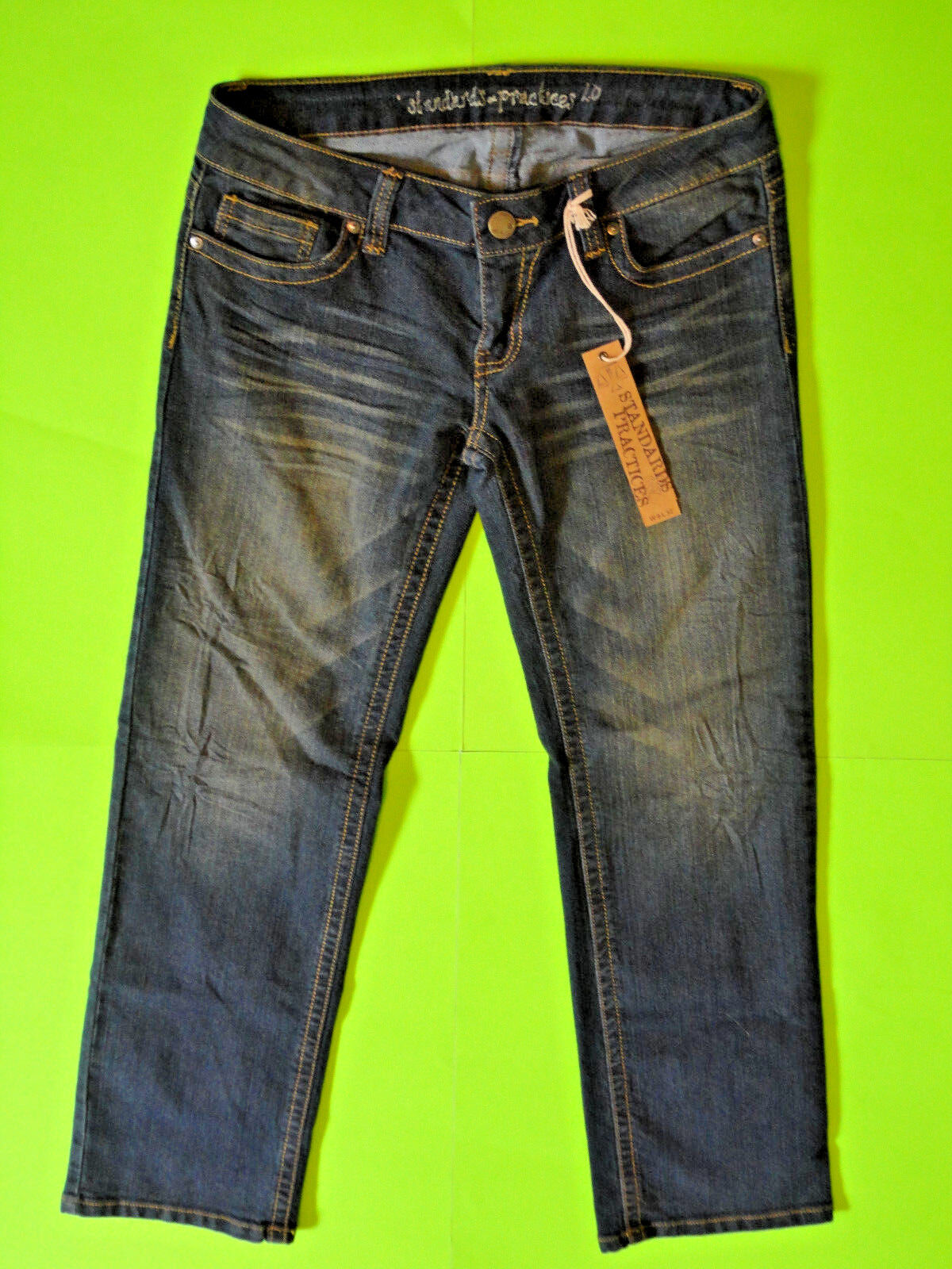 STANDARDS & PRACTICES {Size W9 L32} Junior's Ultra Low Straight Leg Jean NWT