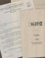 BLOT O INK. James Scott Company, London 1959 letter   fountain pens advert J.21
