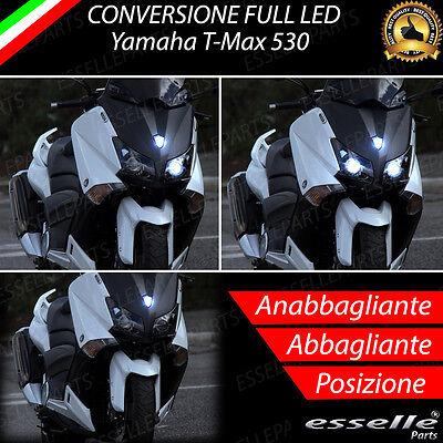 KIT LED CREE MOTO H7 H4 PERFETTO YAMAHA TMAX T-MAX ABBAGLIANTE ANABBAGLIANTE