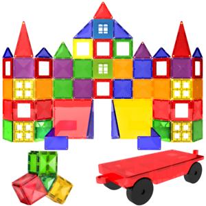 Magnetic-Tiles-57-Piece-Construction-Toy-Set-Kids-Building-Blocks-3D-Puzzle-UK