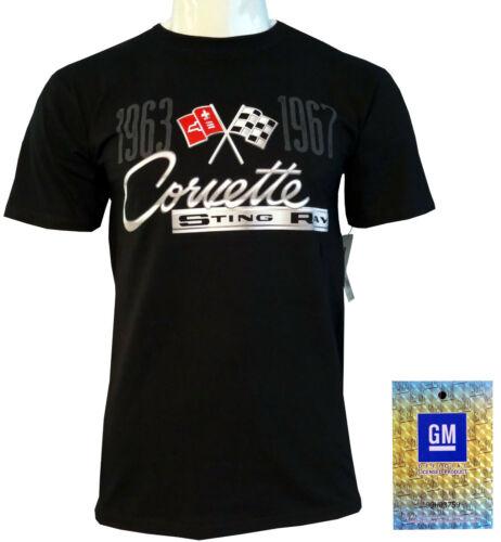 2020 NEU Blitzversand Stingray Corvette C2 Logo T-Shirt GM lizenziert