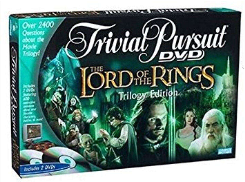 Trivial Trivial Trivial pursuit el señor de los Anillos Trilogía Edición 2004 Totalmente Nuevo Y Sellado 332129