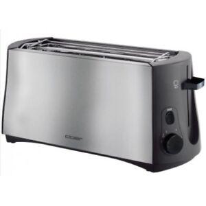 Cloer Toaster 3710 Langschlitztoaster schwarz für 4 Toastscheiben  NEU