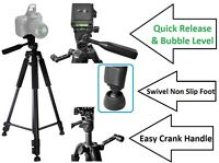 60 Super Tripod With Case For Sony Hdr-cx580v Hdr-pj580v