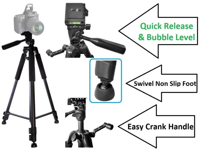 """Pro Ser Photo-Video 50/"""" Tripod With Case for Canon PowerShot SX610 HS SX410 IS"""