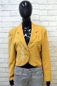 Giacca-Corta-Donna-EL-CHARRO-Taglia-L-Cappotto-Vintage-Blazer-Jacket-Women-039-s