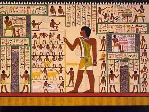 DRAWING-MURAL-GIZA-TOMB-ANCIENT-EGYPT-HEIROGLYPHIC-ART-PRINT-POSTER-CC1126