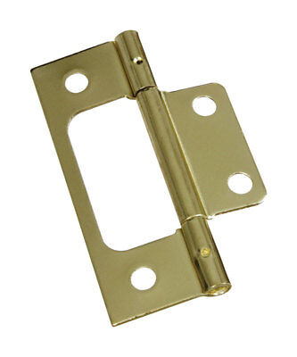 L Brass-Plated  Brass  Door Hinge  2 pk National Hardware  3 in