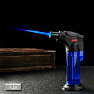 Windproof-Refillable-Lighter-Butane-Inflatable-Torch-Fuel-Jet-Flame-Outdoors