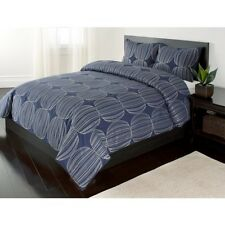 3pc Duvet Cover Set-Embroidered Design 100% Cotton Full/ Queen