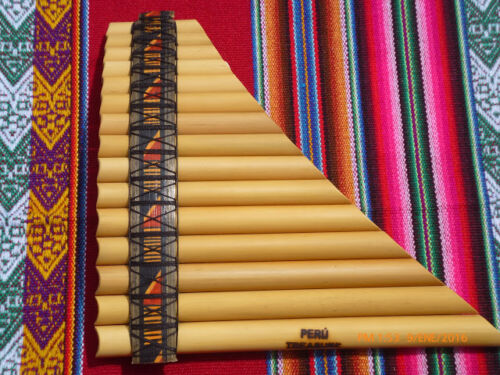 PROFESSIONAL  PAN FLUTE TUNABLE 15  PIPES  NAZCA DESIGNS
