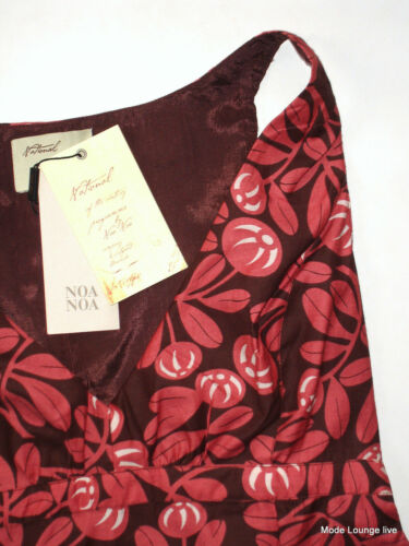 Camicetta Nazionale Robe Nuovo Stampato Fiore Bordeaux Noa Rosso dtptq