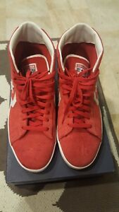 Men S Converse Star Player High Tops Red Suede Size 9 5 Ebay