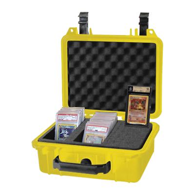 Classé Carte étui rangement pour PSA BGS POKEMON /& autres cartes jaune boite étanche