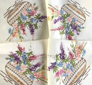 VINTAGE-HAND-EMBROIDERED-NATURAL-LINEN-TABLE-CLOTH-33x35-INCHES