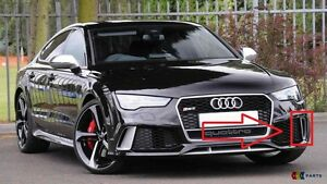NEW-GENUINE-AUDI-RS7-14-17-N-S-LEFT-FRONT-BUMPER-LOWER-GRILL-TRIM-COVER