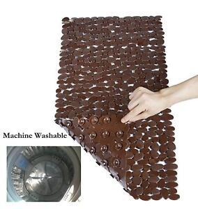 "Bath Mat Non Slip Anti Bacterial Bath Tub mats Pebbles Shower Mat 15"" x 35"""