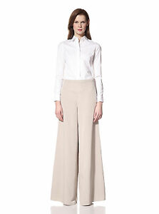 Nevera Womens High Waisted Long Palazzo Pants Zipper Wide Leg Trousers for Ladies