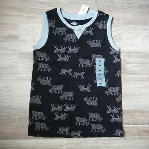 Boys-Black-Tigers-Tank-top-shirt-size-5T-Old-Navy-Sleeveless-New