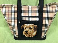 Beautiful Custom Embroidered Norfolk Terrier Tote