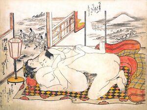 Repro Japanese Woodblock 'Shunga Style' Print - #013