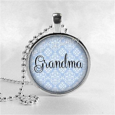 Grandma Pendant Necklace Grandma Necklace Grammy Nana