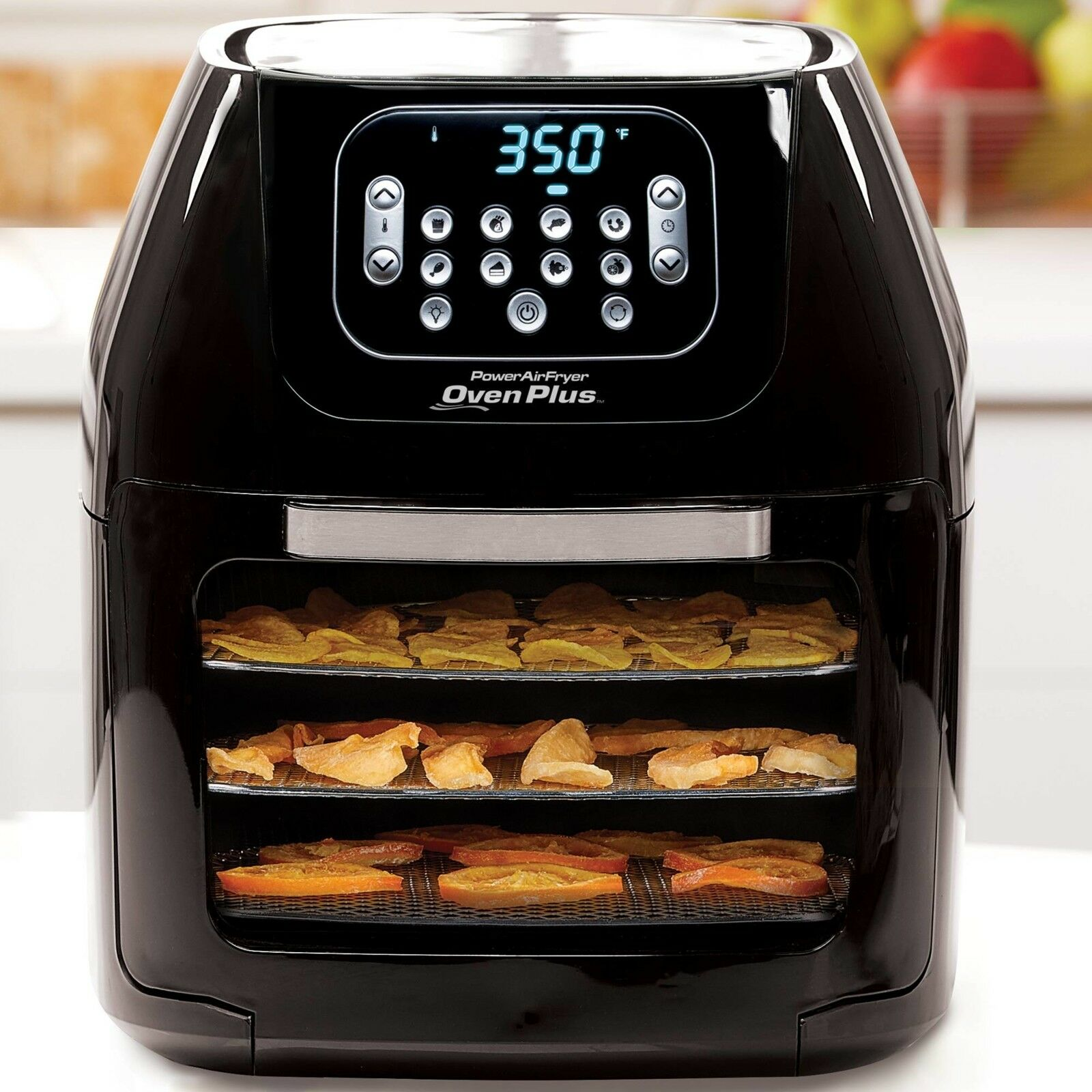 Power Air Fryer Oven All-in-One 6 Quart Plus Dehydrator Best Pro rougeisserie 6QT