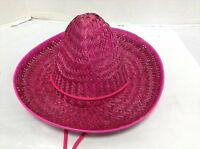 1 Kids Toys Mexican Sombrero Straw Hat Birthday Party Fiesta Supplies Pink