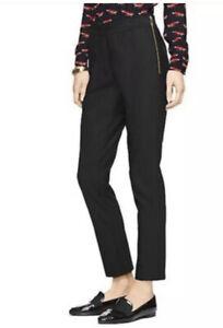 Kate Spade Size 4 Black Blaze A Trail Legging Pant Trousers