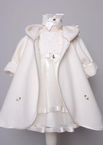 Mantel und Stirnband Spitze Festkleid Babykleid creme Charlotte-Set ♥ Taufkleid