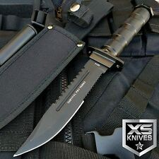 "10.5"" THE BONE EDGE SURVIVAL FIXED BLADE TACTICAL HUNTING KNIFE W/ SURVIVAL KIT"
