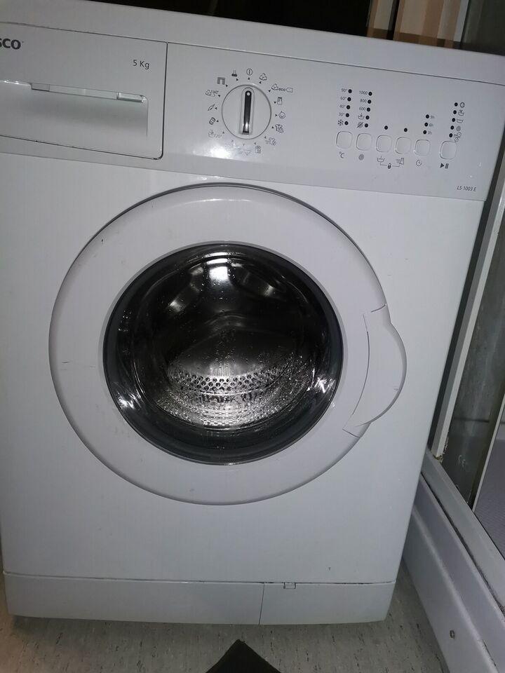Wasco vaskemaskine, frontbetjent, 1000 omdr./min.