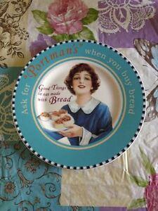 Vintage-Villeroy-amp-Boch-1748-Germany-Porcelain-Checkered-Portman-039-s-Plate-New