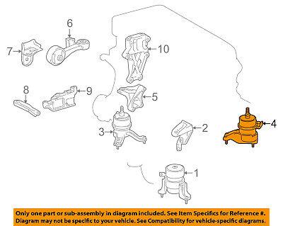 Toyota OEM 07-16 Camry-motor de montaje del motor Torsión Puntal 123720H130  | eBayeBay