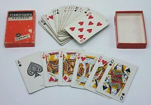 Vintage-Pennsylvania-Railroad-PA-RR-Playing-Cards-in-Box-Complete-Deck