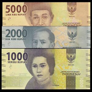 UNC/>New Design P-NEW 2016//2017 Lot 10 PCS Indonesia 5000 Rupiah