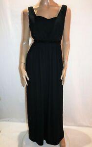 FOREVER NEW Brand Black Katie V Neck Maxi Dress Size 10 BNWT #HG09