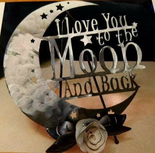I LOVE YOU TO THE MOON AND BACK METAL ARTWORK