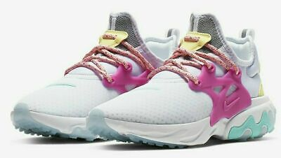 Nike Women's React Presto White Hyper Violet CD9015 101 Size 10 | eBay