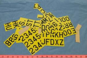 Vintage-2-034-Yellow-Metal-Letters-Assortment-dq