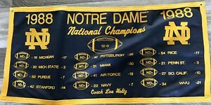 Notre-Dame-Fighting-Irish-1988-Lou-Holtz-Football-National-Championship-Banner