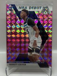 2019-20 Panini Mosaic Camo Pink Rookie Prizm Jarrett Culver NBA Debut RC # 263