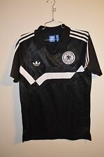 NWOT Adidas Germany National World Cup Polo Soccer Football Jersey Black Mens M