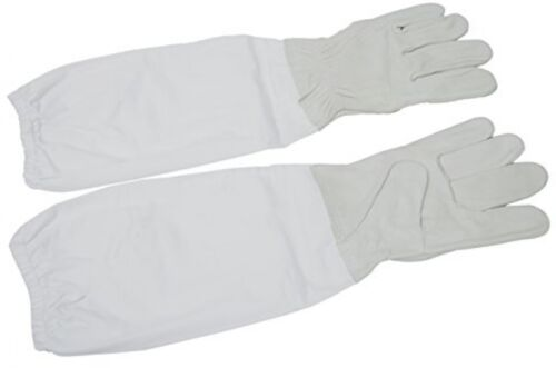 New XL Extra Large Beekeeping Gloves Goatskin Bee Keeping With Vented Sleeves