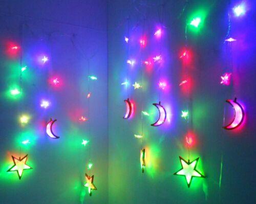 Light up Indoor Decoration Star /& Moon //Ramadan Kareem Home Decoration Hilal